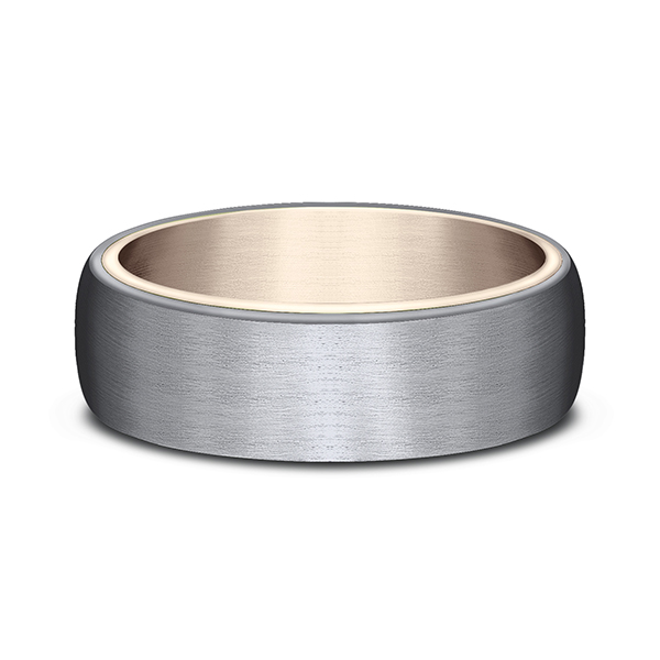 Men's Wedding Bands - Ammara Stone Comfort-fit Design Wedding Ring - image 3