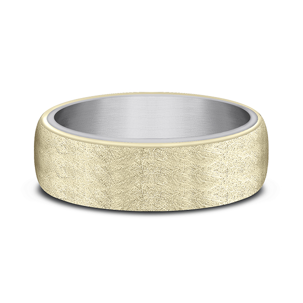 Wedding Bands - Ammara Stone Comfort-fit Design Wedding Ring - image 3
