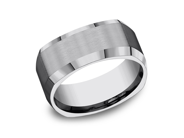 Mens Wedding Bands - Tungsten Comfort-Fit Design Wedding Band