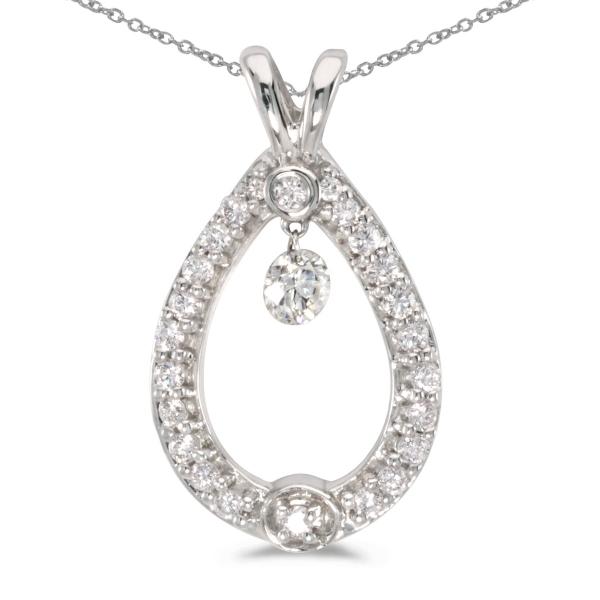 14k white gold dashing diamonds pendant p8347w karen 39 s. Black Bedroom Furniture Sets. Home Design Ideas