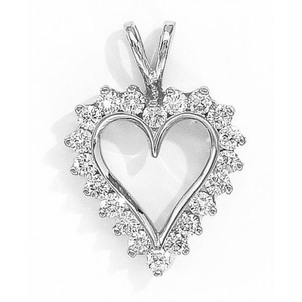 14k white gold and diamond heart pendant carat. Black Bedroom Furniture Sets. Home Design Ideas