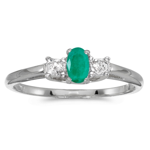 10k white gold oval emerald and diamond ring rm1834w 05. Black Bedroom Furniture Sets. Home Design Ideas