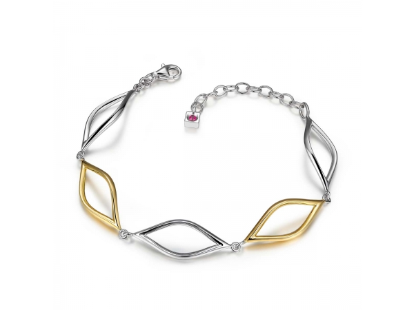 Sterling Silver Rhodium Plated Bracelet  by ELLE