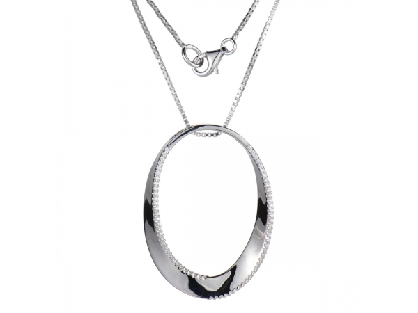 Sterling Silver Rhodium Plated Pendant - Sterling Silver Rhodium Plated Pendant