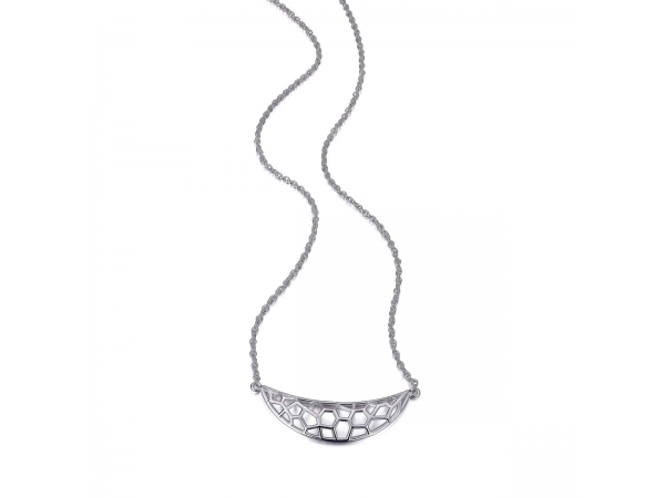 Sterling Silver Rhodium Plated Necklace by Elle Jewelry