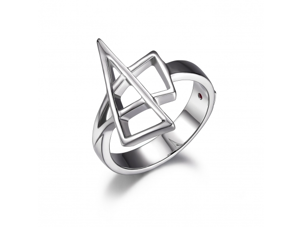 Sterling Silver Rhodium Plated Ring   by Elle Jewelry