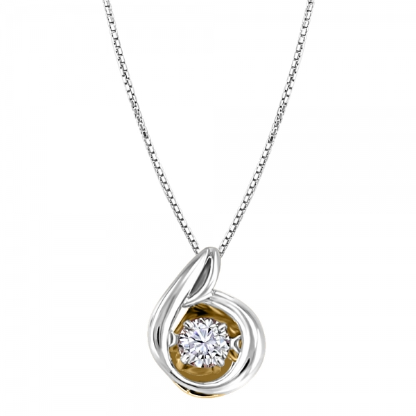 Silver And 10Kt Gold Pendant Curry's Jewellers Grande Prairie, AB