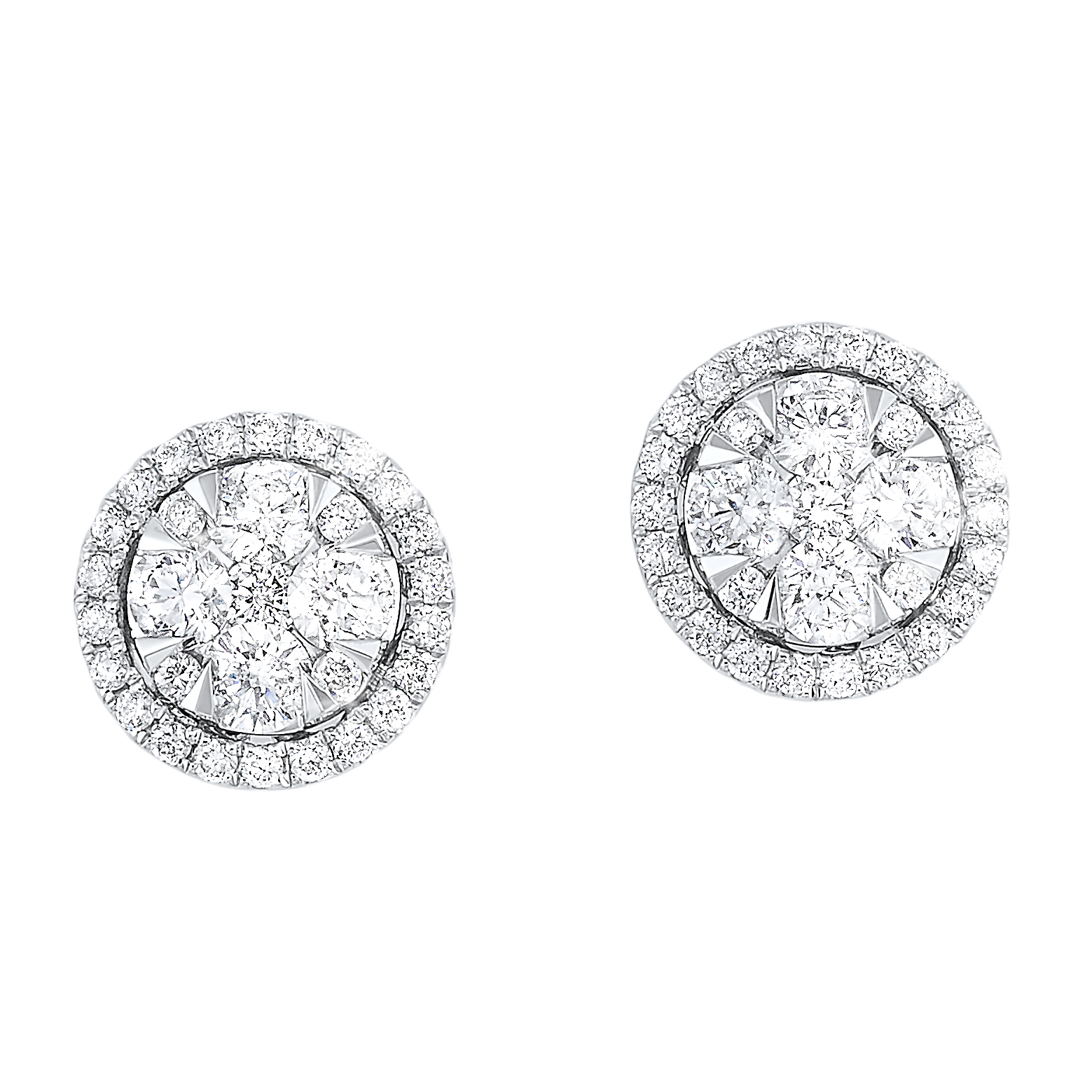 Oval Halo Diamond Earrings in 14K White Gold (3/4 ct. tw.) Moseley Diamond Showcase Inc Columbia, SC