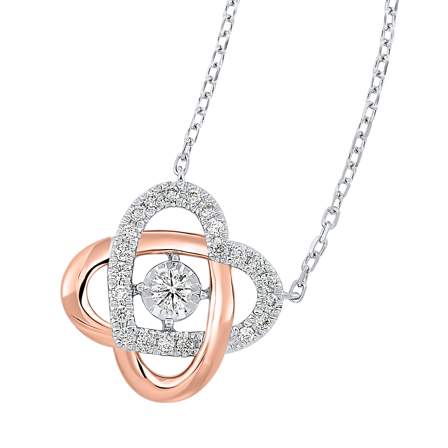 Love's Crossing Diamond Necklace in 14K Two-Tone Gold (1/3 ct. tw.) Moseley Diamond Showcase Inc Columbia, SC