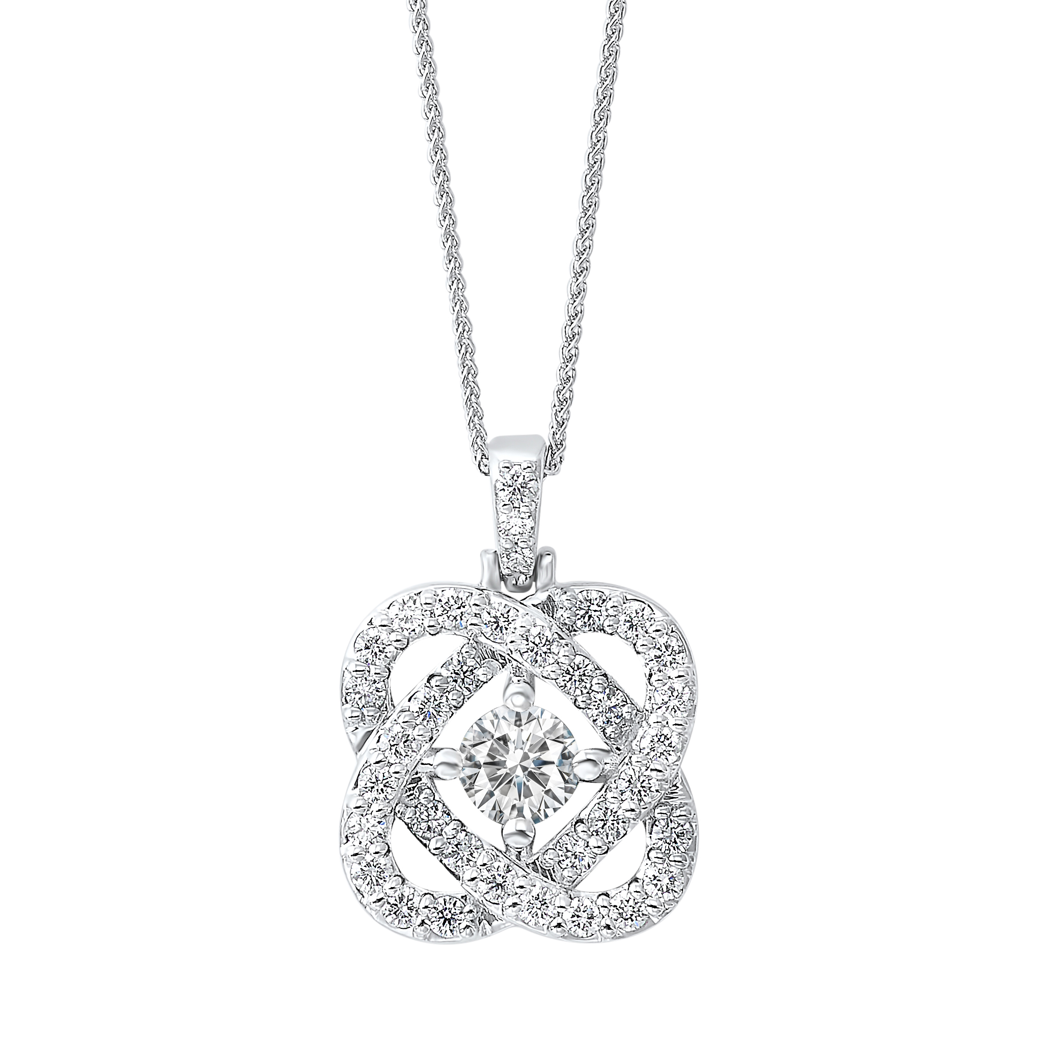 Love's Crossing Diamond Pendant in Sterling Silver (1/4 ct. tw.) Moseley Diamond Showcase Inc Columbia, SC