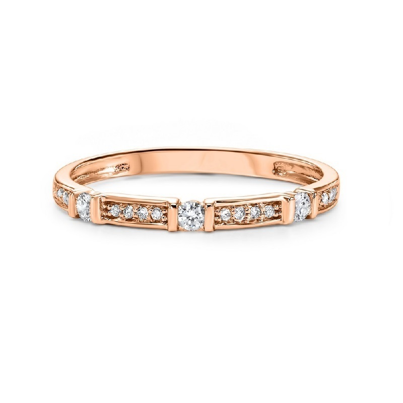 14K Rose Gold Stackable Prong Diamond Band (1/6 ct. tw.) Moseley Diamond Showcase Inc Columbia, SC