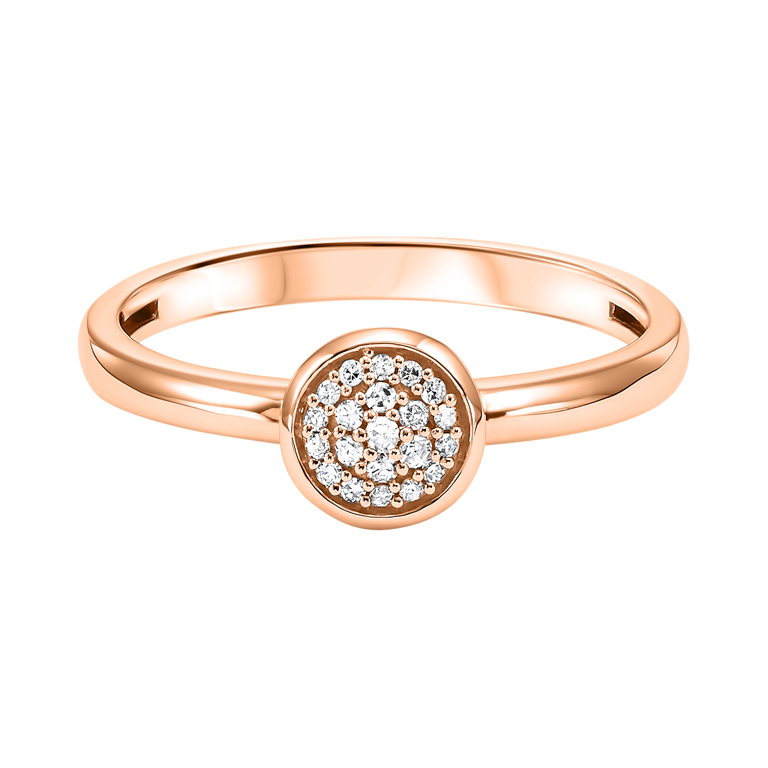 Stackable Circle Diamond Band in 10K Rose Gold (1/12 ct. tw.) Moseley Diamond Showcase Inc Columbia, SC