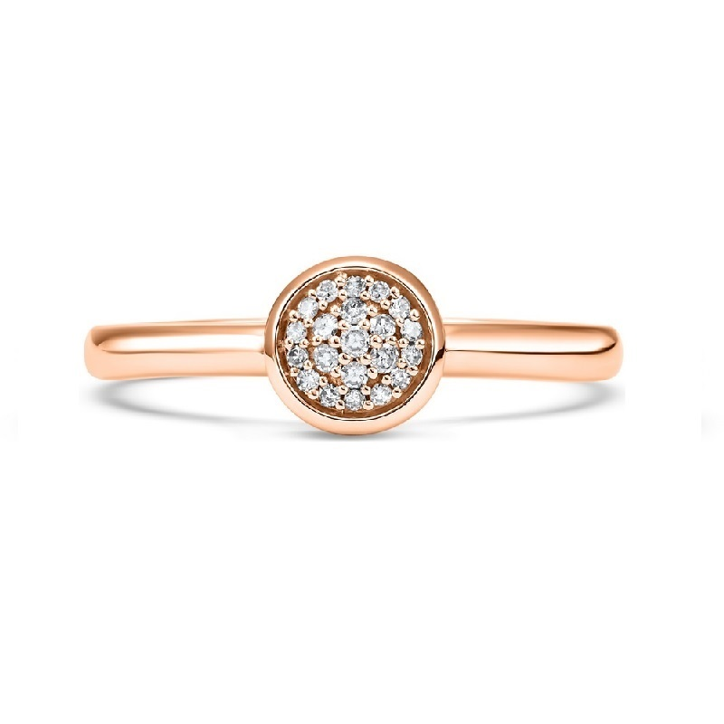 14K Rose Gold Stackable Prong Diamond Band (1/12 ct. tw.) Moseley Diamond Showcase Inc Columbia, SC