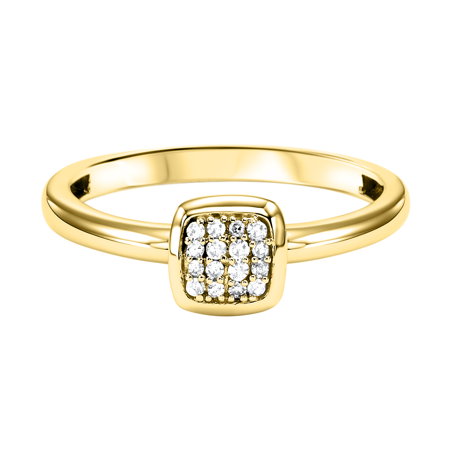 Stackable Cushion Diamond Band in 10K Yellow Gold (1/12 ct. tw.) Moseley Diamond Showcase Inc Columbia, SC