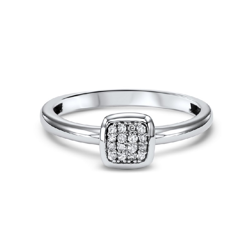 14K White Gold Stackable Prong Diamond Band (1/12 ct. tw.) Moseley Diamond Showcase Inc Columbia, SC