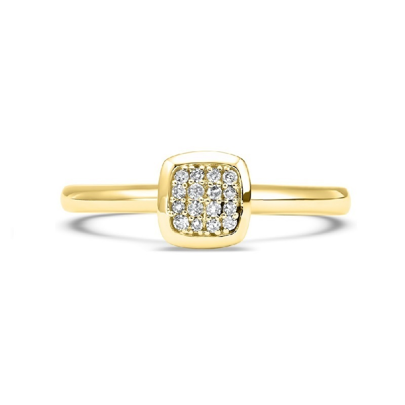 14K Yellow Gold Stackable Prong Diamond Band (1/12 ct. tw.) Moseley Diamond Showcase Inc Columbia, SC