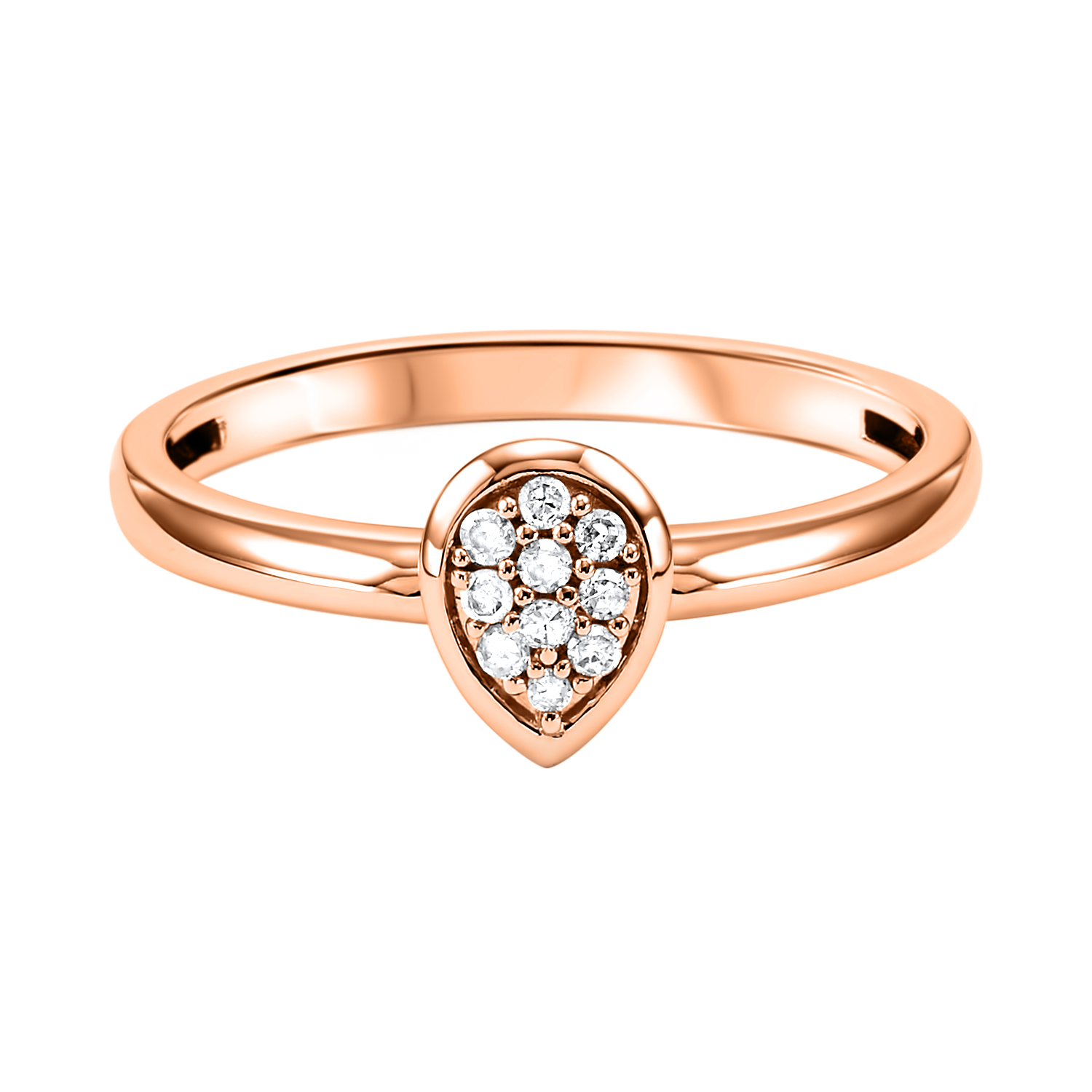 10K Rose Gold Stackable Prong Diamond Band (1/12 ct. tw.) Moseley Diamond Showcase Inc Columbia, SC