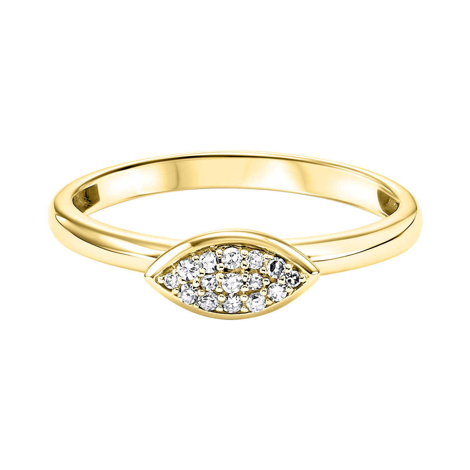 10K Yellow Gold Stackable Prong Diamond Band (1/12 ct. tw.) Moseley Diamond Showcase Inc Columbia, SC