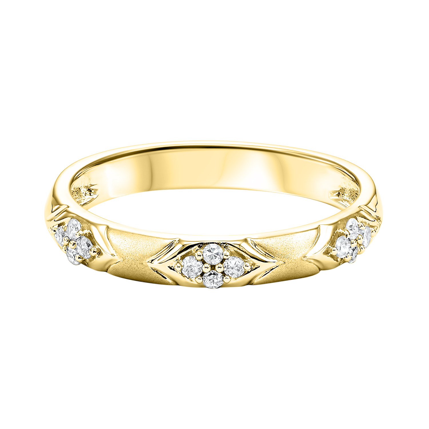 10K Yellow Gold Stackable Prong Diamond Band (1/8 ct. tw.) Moseley Diamond Showcase Inc Columbia, SC