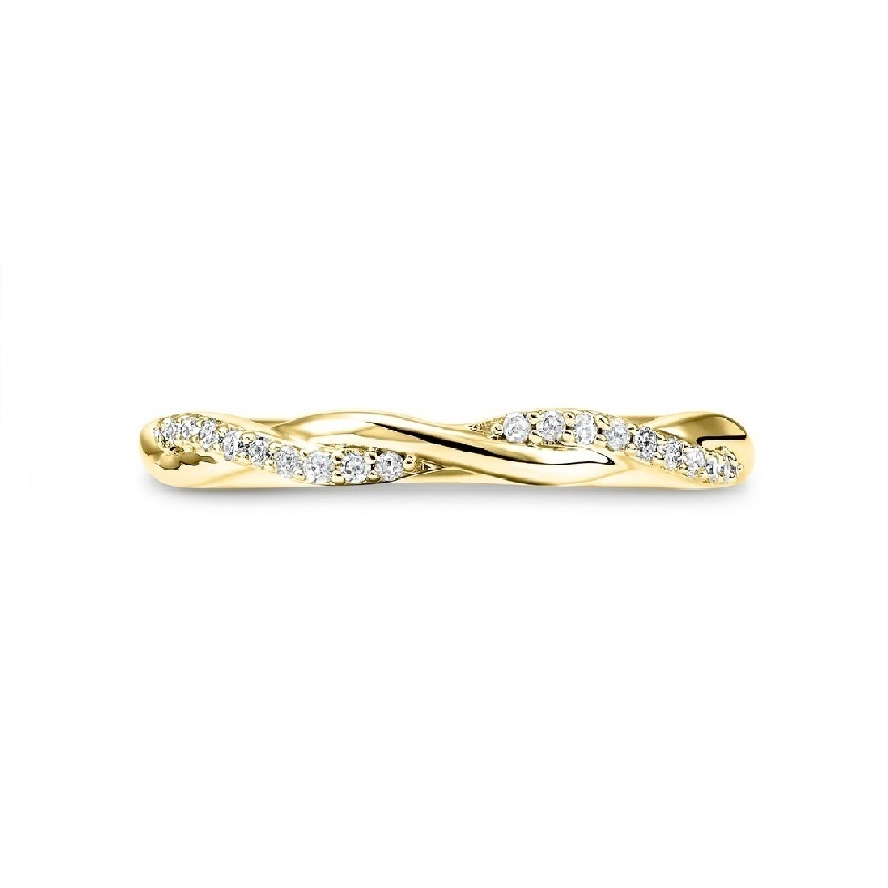 14K Yellow Gold Stackable Prong Diamond Band (1/10 ct. tw.) Moseley Diamond Showcase Inc Columbia, SC