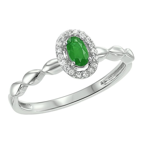10K White Gold  Prong Emerald Ring (1/14 ct. tw.) Moseley Diamond Showcase Inc Columbia, SC