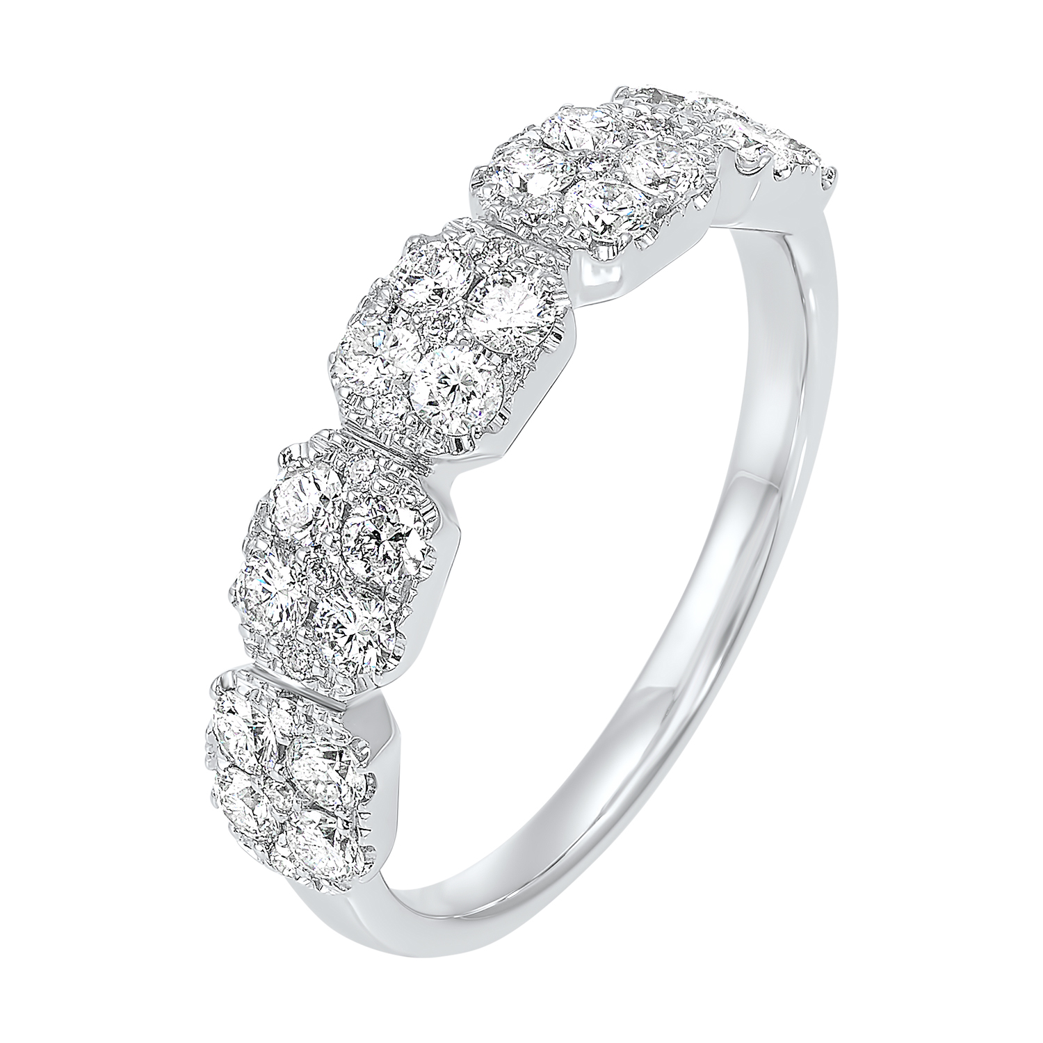 Five Station Square Diamond Ring in 14K White Gold (3/4 ct. tw) Moseley Diamond Showcase Inc Columbia, SC