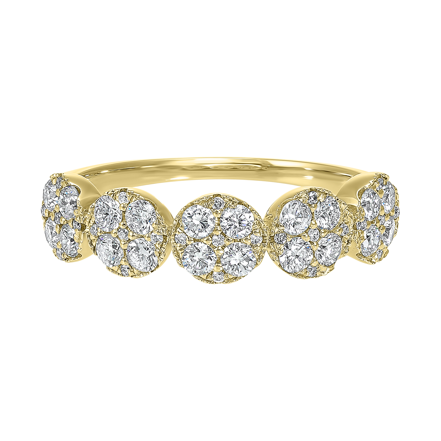 Five Station Circle Diamond Ring in 14K Yellow Gold (3/4 ct. tw) Moseley Diamond Showcase Inc Columbia, SC