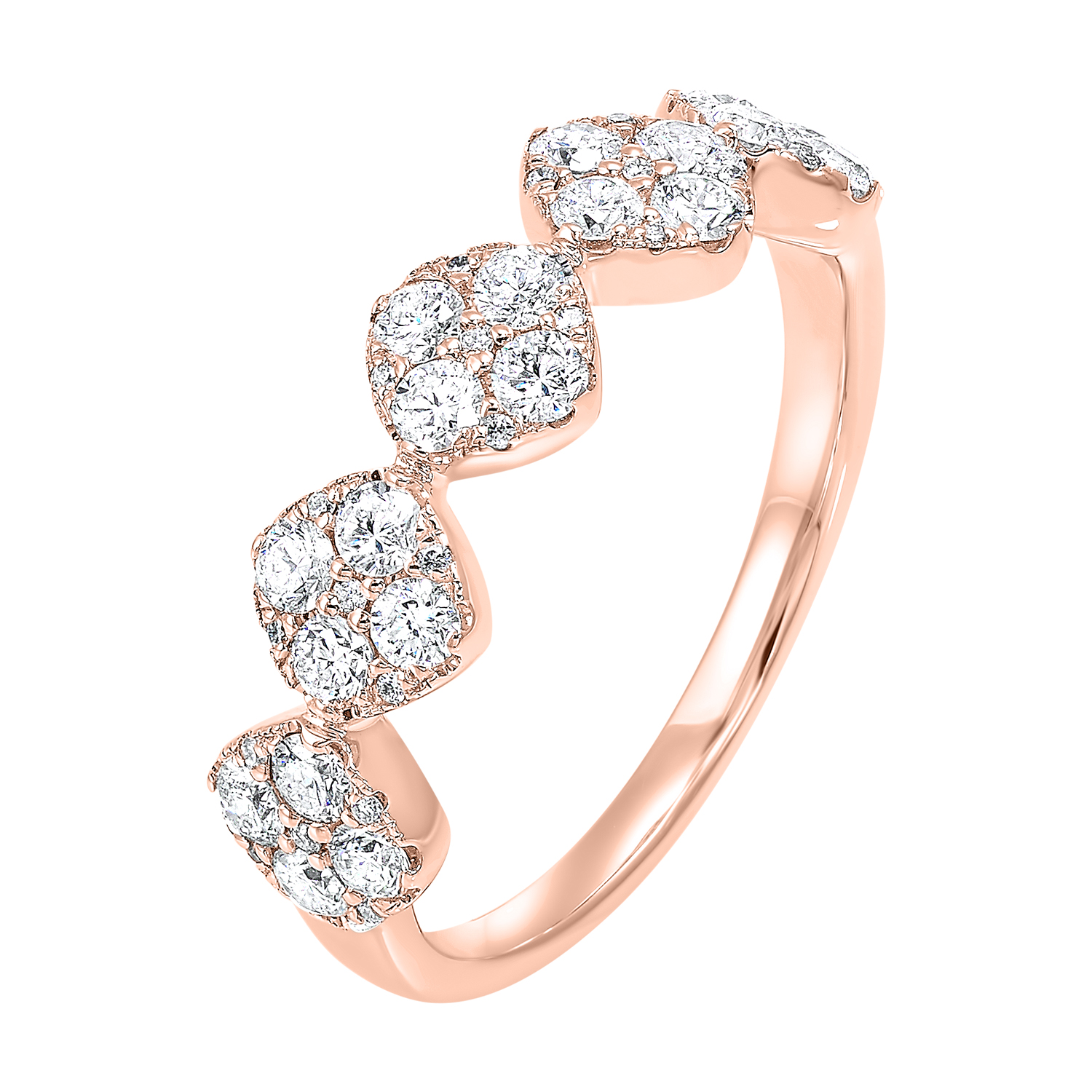 Five Station Square Diamond Ring in 14K Rose Gold (3/4 ct. tw) Moseley Diamond Showcase Inc Columbia, SC
