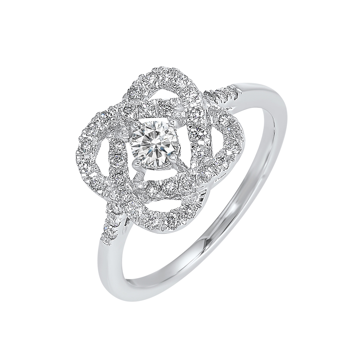Love's Crossing Diamond Ring in 14K White Gold (1/4 ct. tw.) Moseley Diamond Showcase Inc Columbia, SC