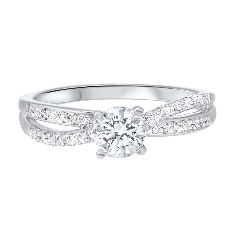14K White Gold Cash&Carry Split Prong Diamond Ring 2/(3 ct. tw.) Moseley Diamond Showcase Inc Columbia, SC