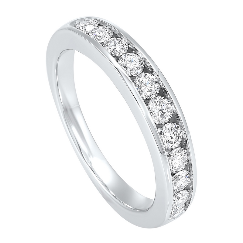 Channel Set Diamond Wedding Band in 14K White Gold (1/4 ct. tw.) Moseley Diamond Showcase Inc Columbia, SC