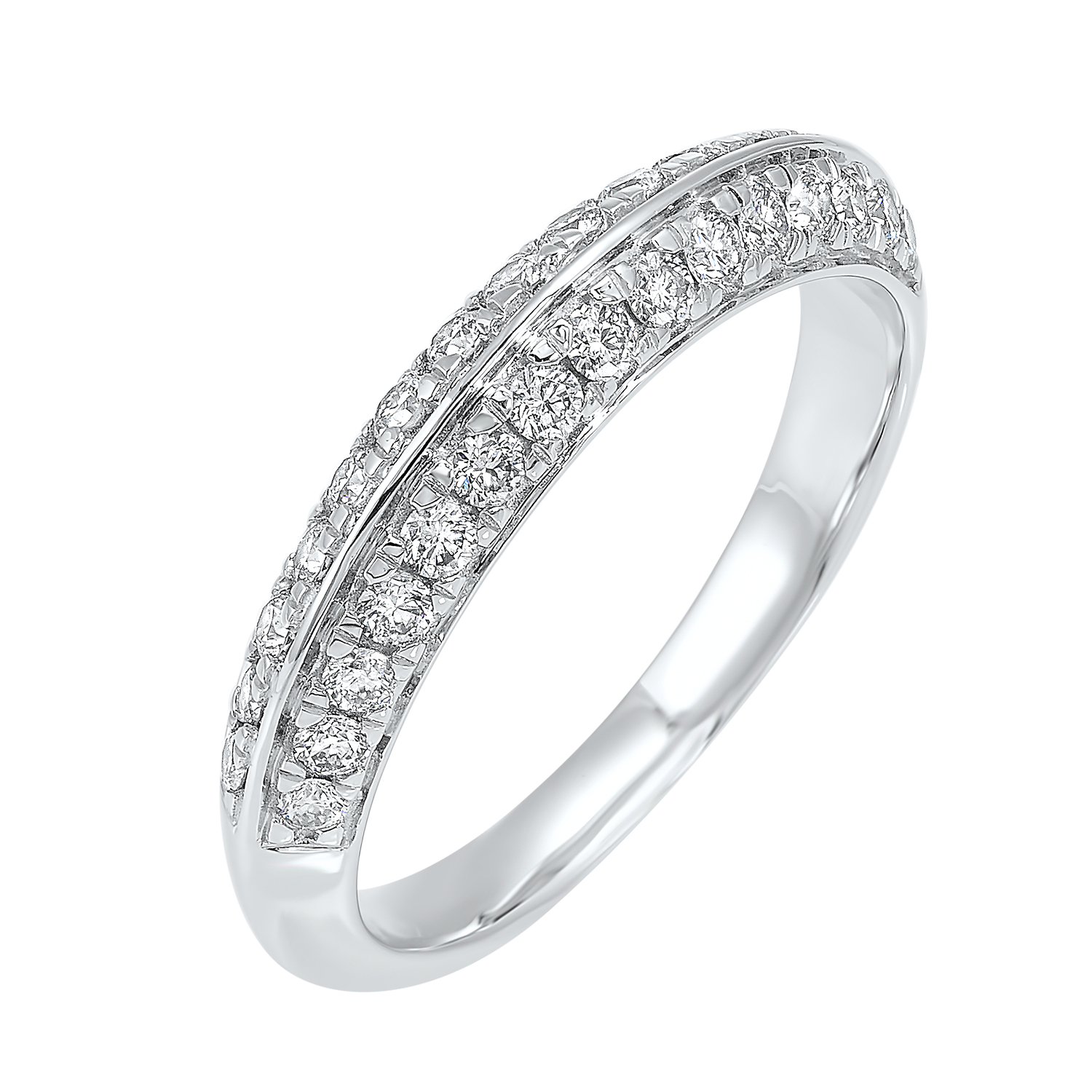 Multi-Row Diamond Ring in 14K White Gold (1/4 ct. tw.) Moseley Diamond Showcase Inc Columbia, SC