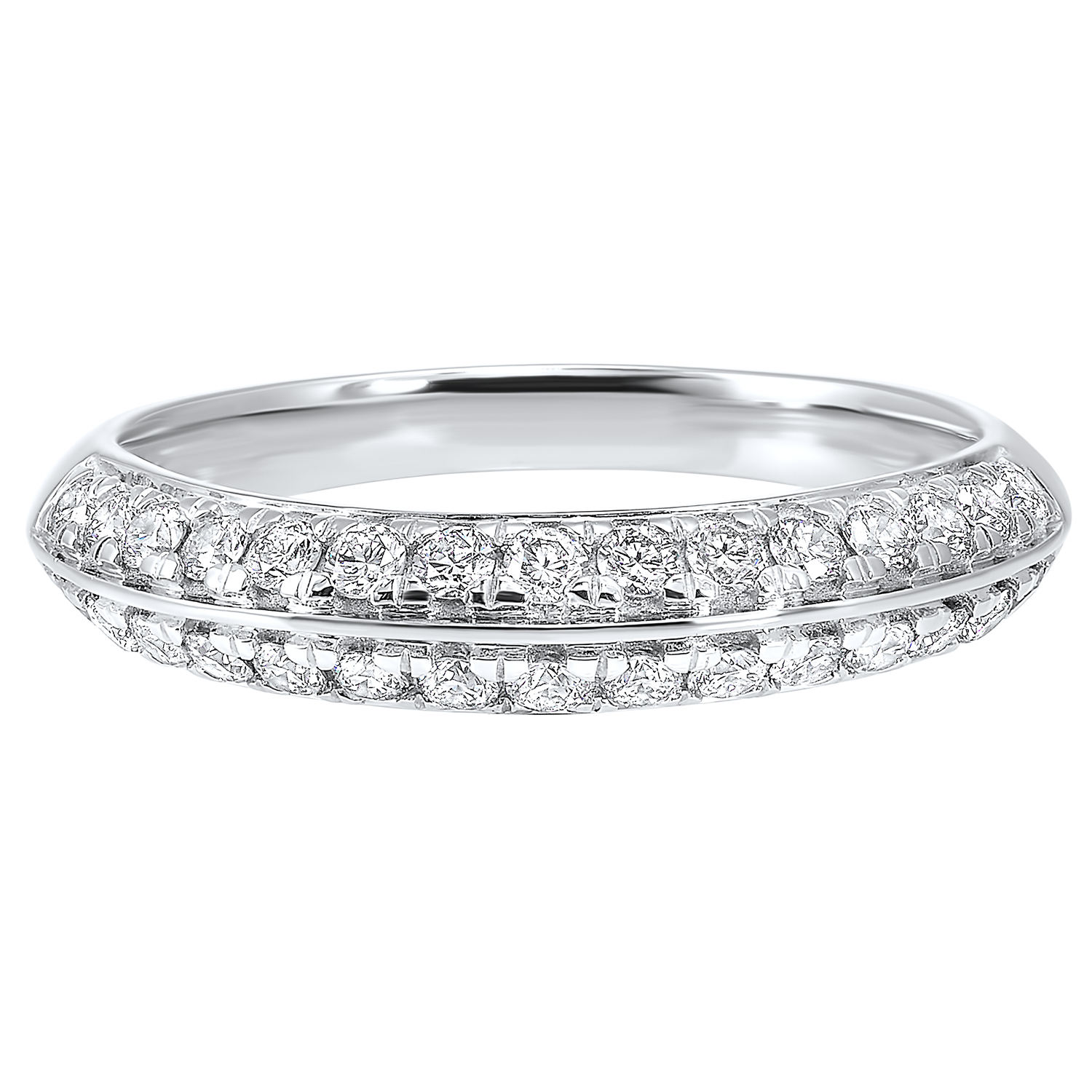 Multi-Row Diamond Ring in 14K White Gold (1/2 ct. tw.) Moseley Diamond Showcase Inc Columbia, SC