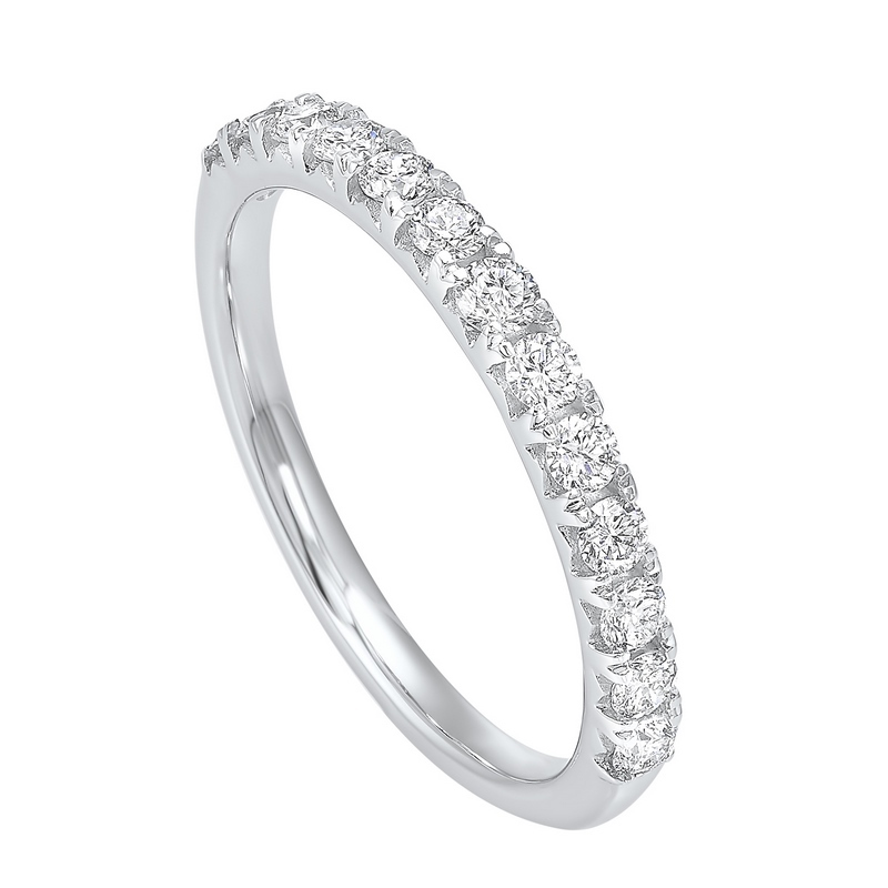 14K White Gold Prong Diamond Band (1/4 ct. tw.) Moseley Diamond Showcase Inc Columbia, SC