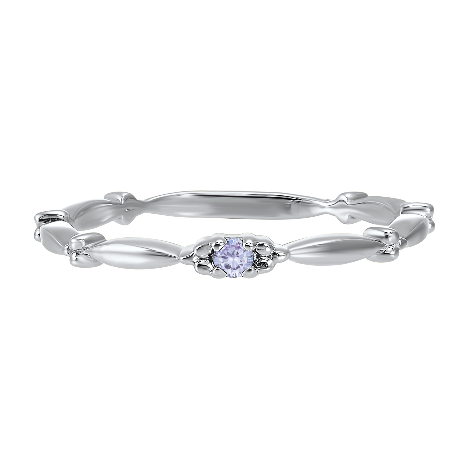 10K White Gold Stackable Prong Alexandrite Band Moseley Diamond Showcase Inc Columbia, SC