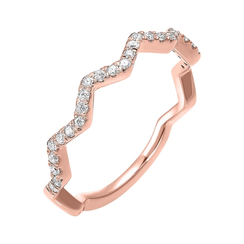 10K Rose Gold Stackable Prong Diamond Band (1/5 ct. tw.) Moseley Diamond Showcase Inc Columbia, SC