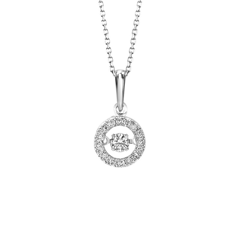 10K White Gold Rhythm of Love Prong Diamond Necklace 1/4CT Moseley Diamond Showcase Inc Columbia, SC