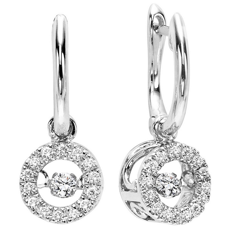 10K White Gold Rhythm of Love Prong Diamond Earrings 1/5CT Moseley Diamond Showcase Inc Columbia, SC