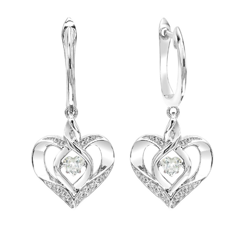 Sterling Silver Rhythm of Love Prong White Topaz Earrings 3/500CT Moseley Diamond Showcase Inc Columbia, SC