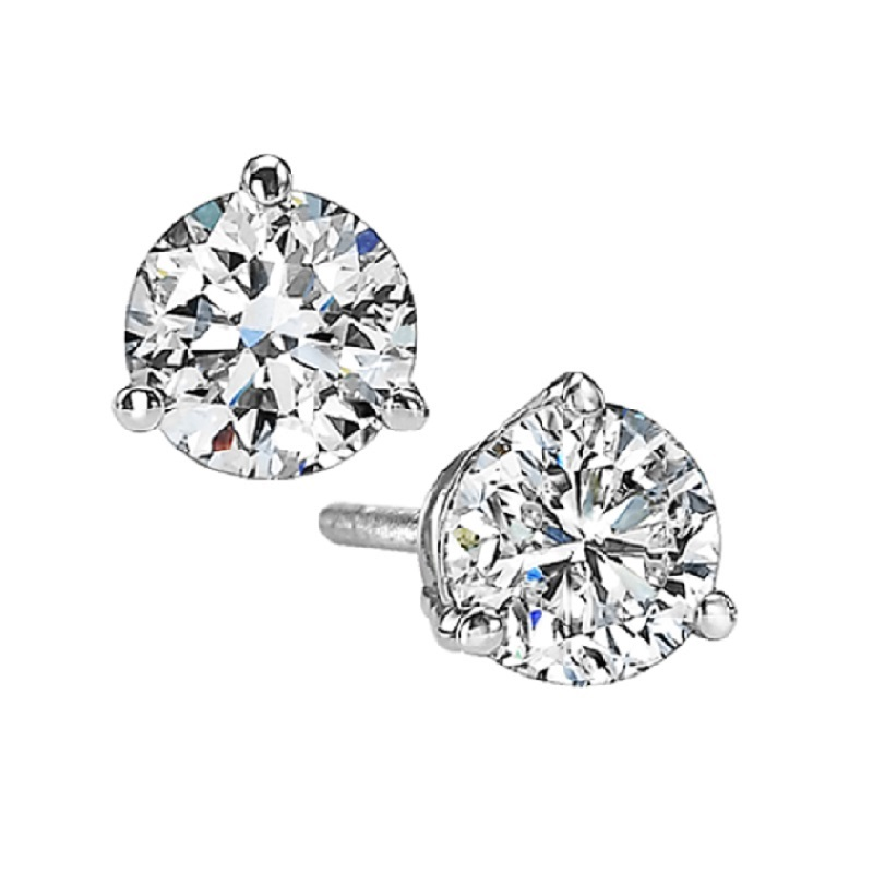 Diamond Stud Earrings in 18K White Gold (1 1/4 ct. tw.) SI2 - G/H Moseley Diamond Showcase Inc Columbia, SC
