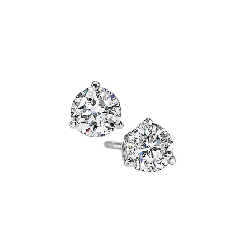 Martini Diamond Stud Earrings in 14K White Gold (1/10 ct. tw.) SI3 - G/H Moseley Diamond Showcase Inc Columbia, SC
