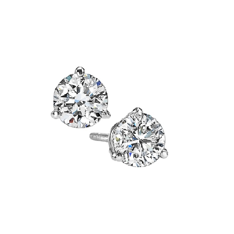 Martini Diamond Stud Earrings in 14K White Gold (1/5 ct. tw.) SI3 - G/H Moseley Diamond Showcase Inc Columbia, SC