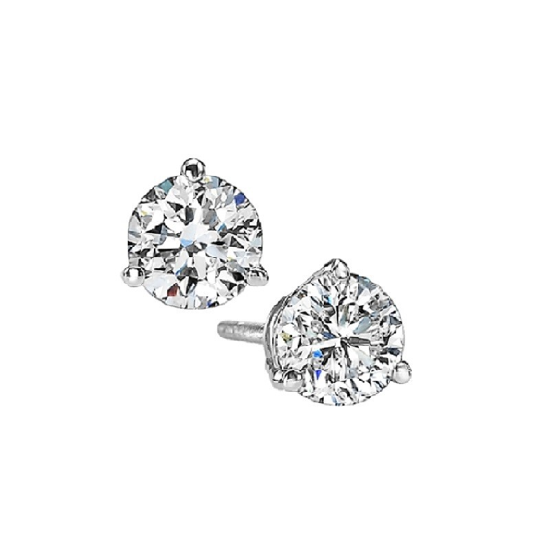 Martini Diamond Stud Earrings in 14K White Gold (3/8 ct. tw.) SI3 - G/H Moseley Diamond Showcase Inc Columbia, SC