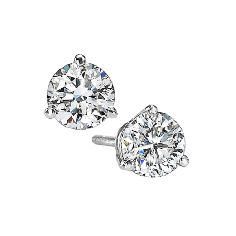 Martini Diamond Stud Earrings in 14K White Gold (5/8 ct. tw.) SI3 - G/H Moseley Diamond Showcase Inc Columbia, SC