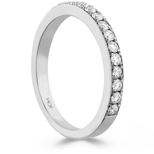 Ladies Diamond Wedding Rings - 0.35 ctw. Beloved Band to match Open Gallery in Platinum - image #2