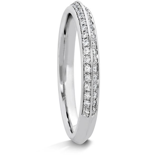 Ladies Diamond Wedding Rings - 0.18 ctw. Camilla Pave Knife Edge Band in Platinum - image #2