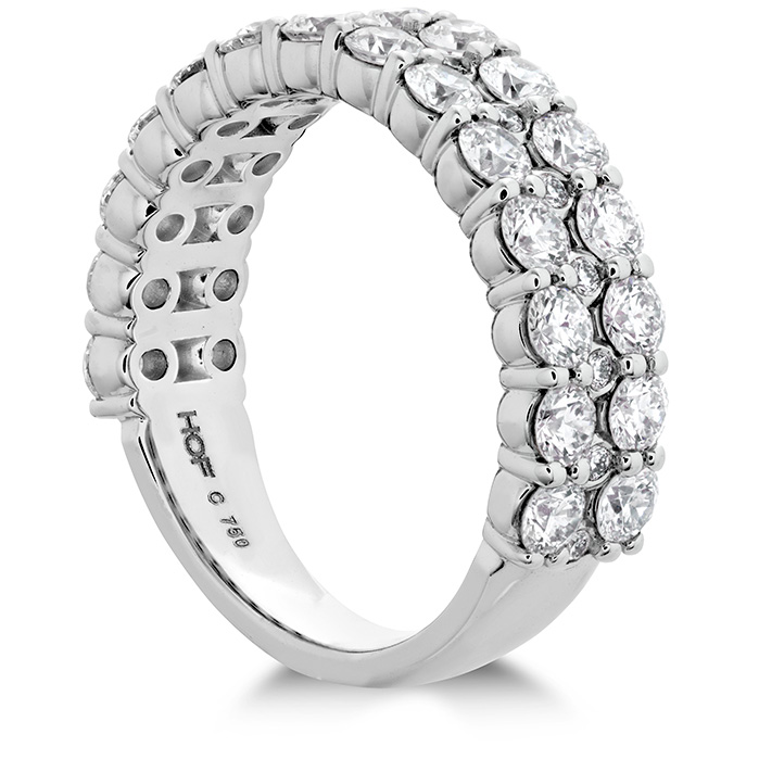 Rings - 1.8 ctw. HOF Classic Double Row Band in Platinum - image #2