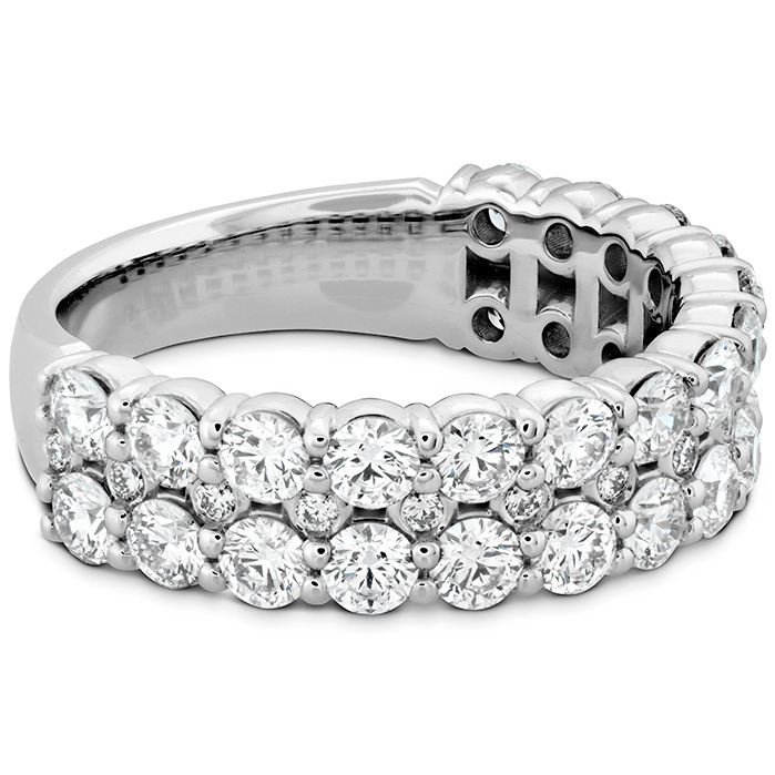 Rings - 1.8 ctw. HOF Classic Double Row Band in Platinum - image #3