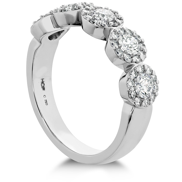 Rings - 0.85 ctw. Fulfillment Round Band in Platinum - image #2