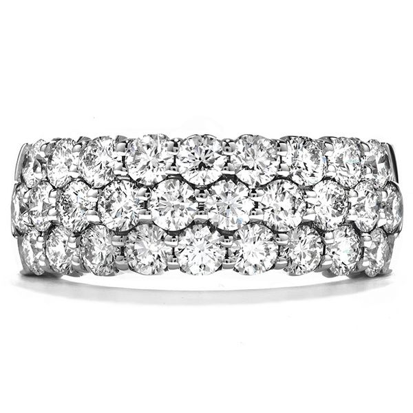 Rings - 1.65 ctw. Truly Triple Row Right Hand Ring in 18K White Gold